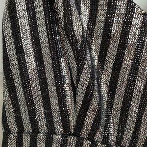 Topshop Pants - sequin striped jumpsuit